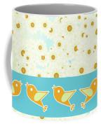 Birds And Daisies Coffee Mug