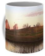 Birds And Fun At Butler Park Austin - Silhouettes 1 Panorama Coffee Mug