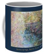 Birds Boaters And Bridges Of Barton Springs - Autumn Colors Pedestrian Bridge Greeting Card Poster Coffee Mug