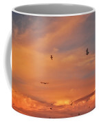 Birds Eye Of The Sunset Coffee Mug