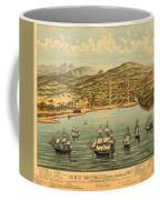 Birds Eye View Map Of San Francisco 1846 Coffee Mug