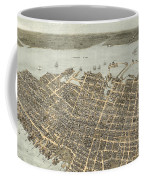 Birds Eye View Of Charleston 1872 Coffee Mug