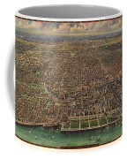 Birds Eye View Of Chicago 1916 Coffee Mug