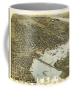 Birds Eye View Of Jacksonville Florida 1893 Coffee Mug