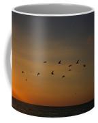 Birds Fly Into The Wind Above The Gulf Coffee Mug