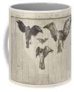 Birds Nailed To A Barn Door (le Haut D'un Battant De Porte) Coffee Mug