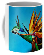 Birds Of Paradise With White Necked Jacobin Hummingbird Coffee Mug