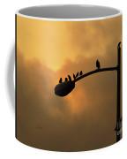 Birds On A Post Amber Light Detail Coffee Mug