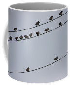 Birds On A Powerline Coffee Mug