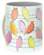 Quail On A Wire Coffee Mug
