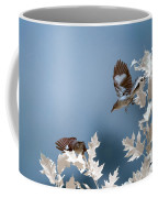 Birds Playing In Infrared Coffee Mug by Brian Hale