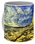 Birling Gap And Seven Sisters Art Coffee Mug