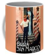 Birra San Marco, Venezia, Italy - Woman With Beer Glass - Retro Travel Poster - Vintage Poster Coffee Mug