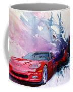 Birth Of A Corvette Coffee Mug