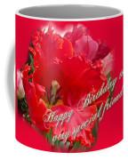 Birthday Special Friend - Red Parrot Tulip Coffee Mug