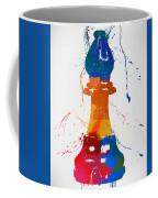 Bishop Chess Piece Paint Splatter Coffee Mug