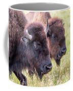 Bison Closeup View Coffee Mug