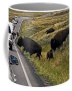 Bison Disrupting Traffic Coffee Mug