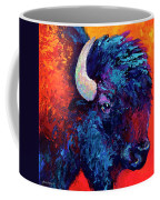 Bison Head Color Study II Coffee Mug