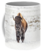 Bison In Snow Coffee Mug