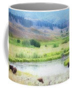 Bison In The Meadow Coffee Mug
