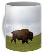 Bison On The American Prairie Coffee Mug by Olivier Le Queinec
