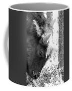 Bison Portrait Monochrome Coffee Mug