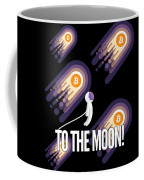 Bitcoin To The Moon Astronaut Cryptocurrency Humor Funny Space Crypto Coffee Mug