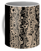 Black And Beige Targets And Lines Coffee Mug