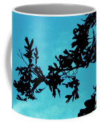 Black And Blue Silhouette Coffee Mug