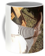 Black And Gray Stockings Coffee Mug