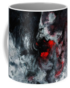 Black And Red Abstract Painting  Coffee Mug