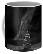 Black And White Balanced Stones Coffee Mug