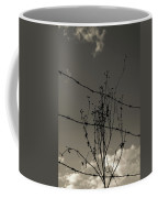 Black And White Barbwire And Branch Coffee Mug