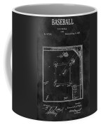 Black And White Baseball Game Patent Coffee Mug