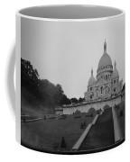 Basilique Du Sacre Coeur In Pre Dawn Paris Bw Coffee Mug