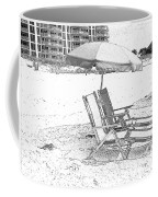 Black And White Beach Chairs Coffee Mug