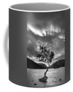 Black And White Beautiful Landscape Image Of Llyn Padarn At Sunr Coffee Mug
