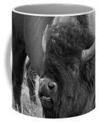 Black And White Bison In Heat Coffee Mug