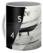 Black And White Boat Reflection Coffee Mug