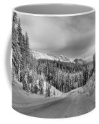 Black And White Bow Valley Parkway - Winter Coffee Mug