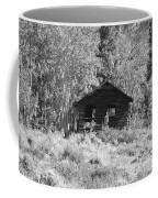 Black And White Cabin Coffee Mug