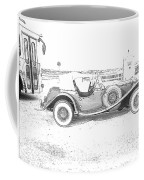 Black And White Car Coffee Mug