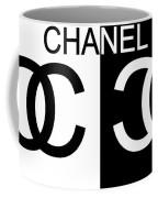 Black And White Chanel Coffee Mug