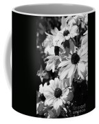 Black And White Coneflowers Coffee Mug