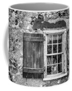 Black And White Cottage Window Coffee Mug