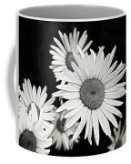 Black And White Daisy 3 Coffee Mug