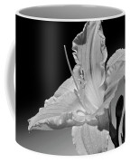 Black And White Daylily Coffee Mug