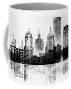 Black And White Detroit Coffee Mug