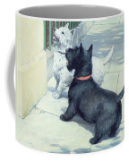 Black And White Dogs Coffee Mug by Septimus Edwin Scott